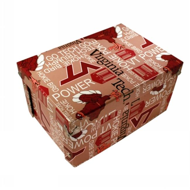 Sport Collectors Guild VirginiaTechBXR326 Virginia Tech designs on a collapsible gift box