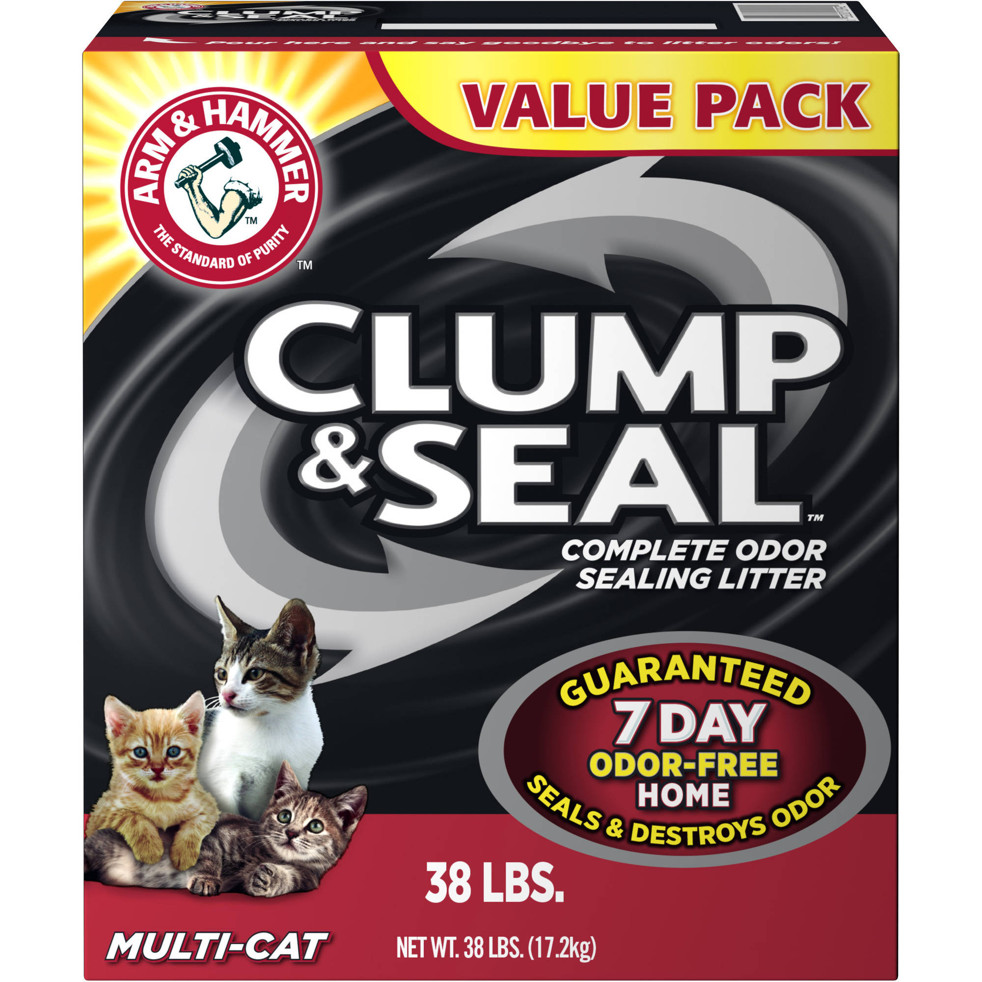 Arm & Hammer Clump & Seal Litter, Multi-Cat, 38-lb