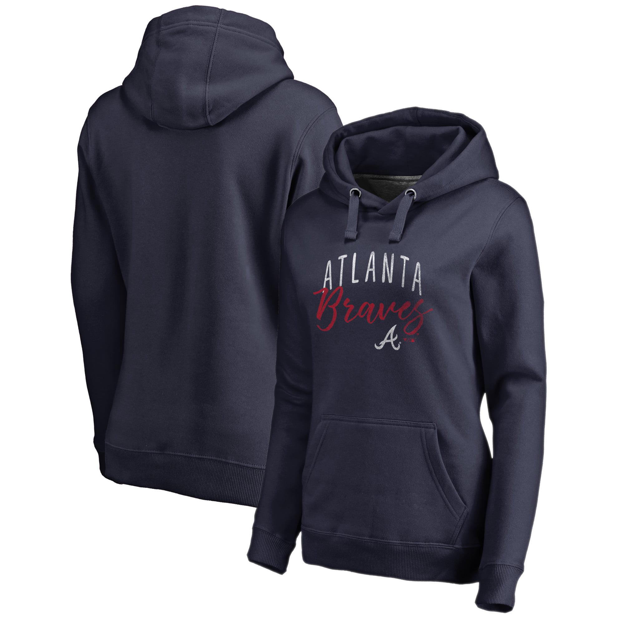 Atlanta Braves Fanatics Branded Women's Graceful Pullover Hoodie - Navy