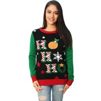 9c2d5627f62 Product Image Ugly Christmas Sweater Women s Ho Ho Ho LED Light Up Sweater