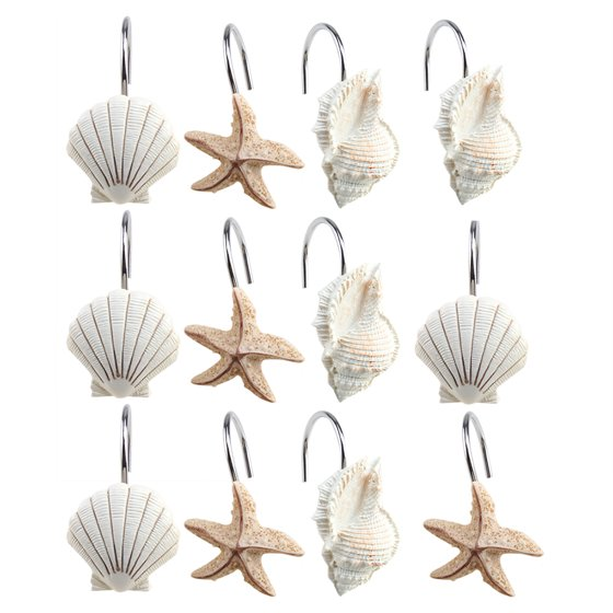 Image Shower Curtain Hooks Rings Set of 12 Home Decorative ...