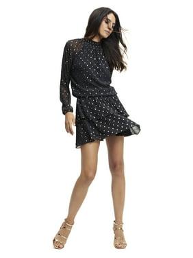 Scoop Women's Foil Dot Print Dress
