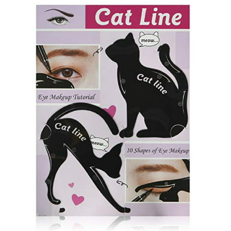 Cat Line Eye Makeup Tutorial, The Guide to the 10 Essential Shapes of Eye Makeup by Classic Beauty + Makeup Blender Stick, 12 Pcs - Doll Eyes Halloween Makeup Tutorial