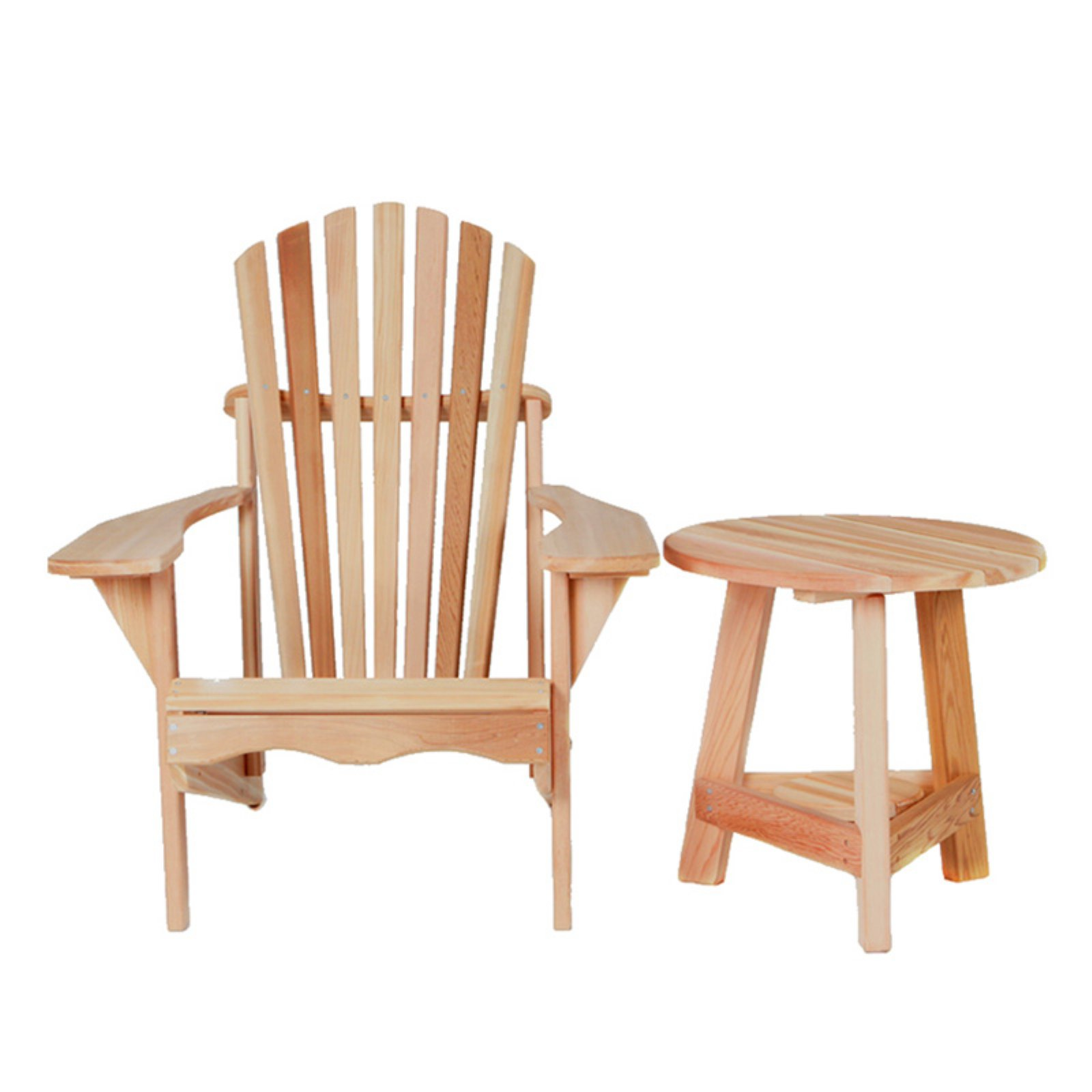 All Things Cedar Adirondack Chair with Tripod Table 2 pc. Set - Western Red Cedar