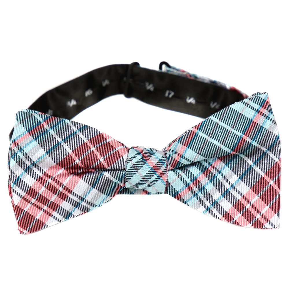 BuyYourTies - PBTZ-110 - Pre Tied Bow Tie   Blue Red