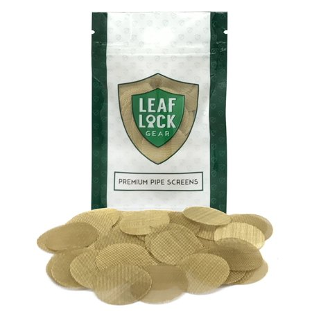 "50 leaf lock gear premium brass tobacco pipe screen filters - 1"" (1.0)"