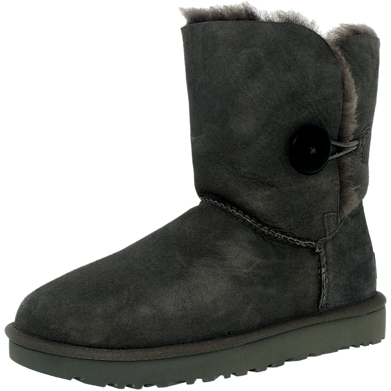 Ugg Women's Bailey Button II Grey High-Top Sheepskin Boot...