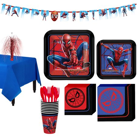 Party City Spider-Man Far: From Home Tableware Party Supplies