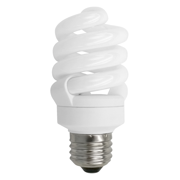 "single spiral 13 watt 4.3"" tall 3500k cfl spiral bulb with 270? beam spread and medium (e26) base"