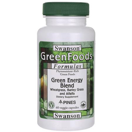 Swanson Green Energy Blend 60 Veg Caps