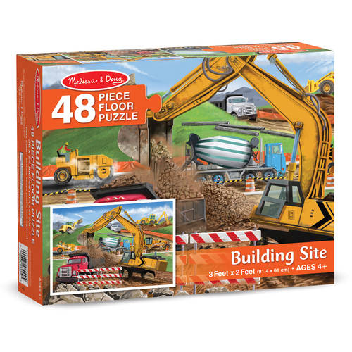 Melissa & Doug Building Site Jumbo Jigsaw Floor Puzzle (48 pcs, 2 x 3 feet long) by Generic