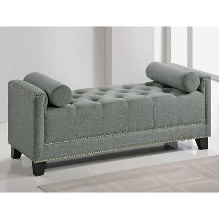 Baxton Studio Hirst Grey Bedroom Bench Walmart Com Walmart Com