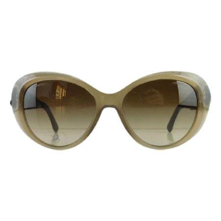 Gently Used Chanel 5318-Q 1511/S5 Gray Plastic Sunglasses 55mm ()