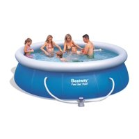 "Bestway 12' x 36"" Fast Set Inflatable Above Ground Pool w/ Filter Pump 