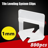 800PCS 1.0mm White Plastic Clips Tile Leveling System Clips Kit Wall Floor Tiling Spacer Device Tool  DIY
