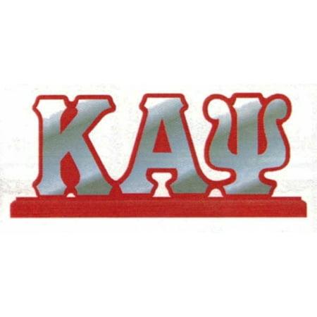 "Kappa Alpha Psi Mirror Letters Desktop Piece [Red - 11"" x 4.5""]"