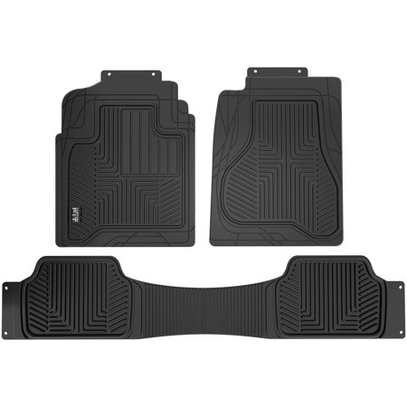 Custom Fit Black 3-Piece All Weather Truck Floor (Black Trunk Mat)