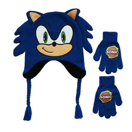 Sonic The Hedgehog Sega Sonic The Hedgehog Kids Peruvian Hat And Gloves Set Walmart Com Walmart Com