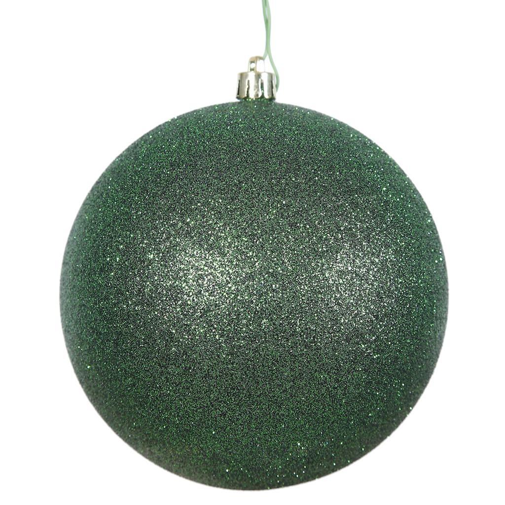 """2.75"""" Emerald Glitter Ball Drilled 12/Ba"""