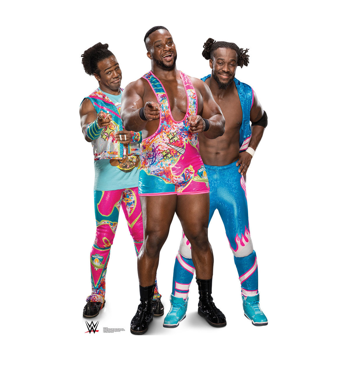 The New Day WWE Wrestlers Lifesize Standup Standee Cardboard Cutout Poster