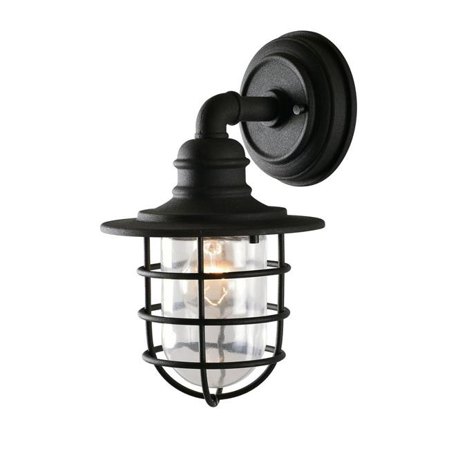 Eli 1-Light Black Outdoor Wall Mount Lantern - Large