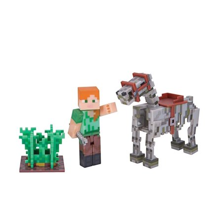 Skeleton Figure (Minecraft Series 3 Alex With Skeleton Horse Action Figure)