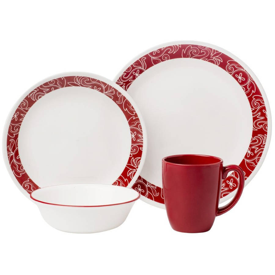 Corelle Livingware 16-Piece Dinnerware Set, Bandhani