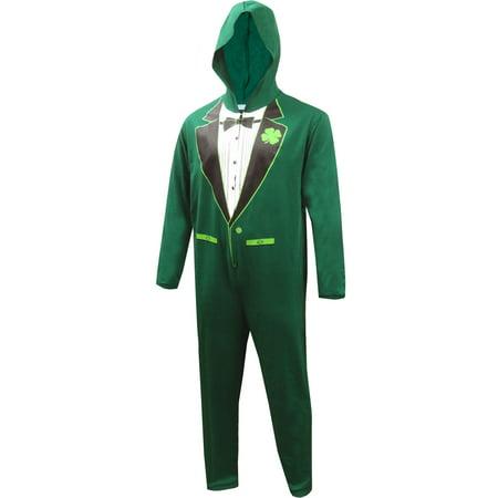 Luck of the Irish Green Tuxedo Onesie - Tuxedo Pajamas