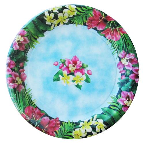 Hawaiian Luau 'Pineapple Luau' Small Paper Plates (8ct)