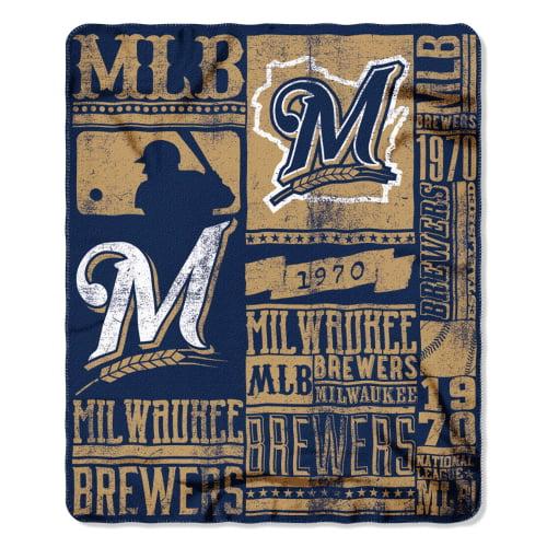 "Milwaukee Brewers The Northwest Company 50"" x 60"" Strength Fleece Blanket - No Size"