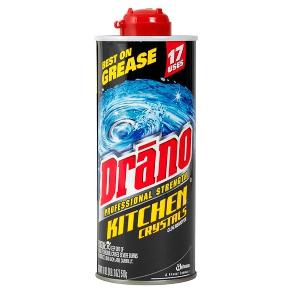 Drano 18 oz. Pro Strength Kitchen Drain Opener Crystals (...