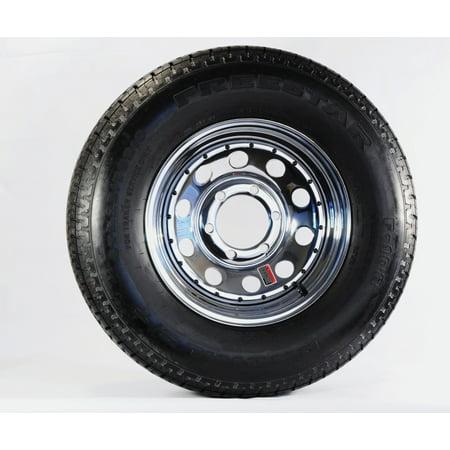 Two Radial Trailer Tires On Rims St225 75r15 225 75 15 6 Lug Chrome