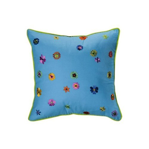 Bacati Valley of Flowers Decorative Cotton Throw Pillow