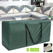 Patio Cushion Storage Bag Waterproof Cushion Cover Outdoor Rectangle Furniture Seat Protector Pouch with Zipper Durable and Protective