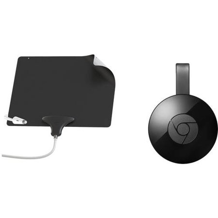 Google Chromecast, Mohu Leaf Ultimate Antenna Bundle - Cut the Cable