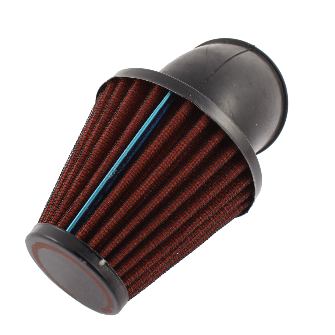 Unique Bargains 44-64mm Clamp Adjustable Air Filter Red for Motorcycle Scooter