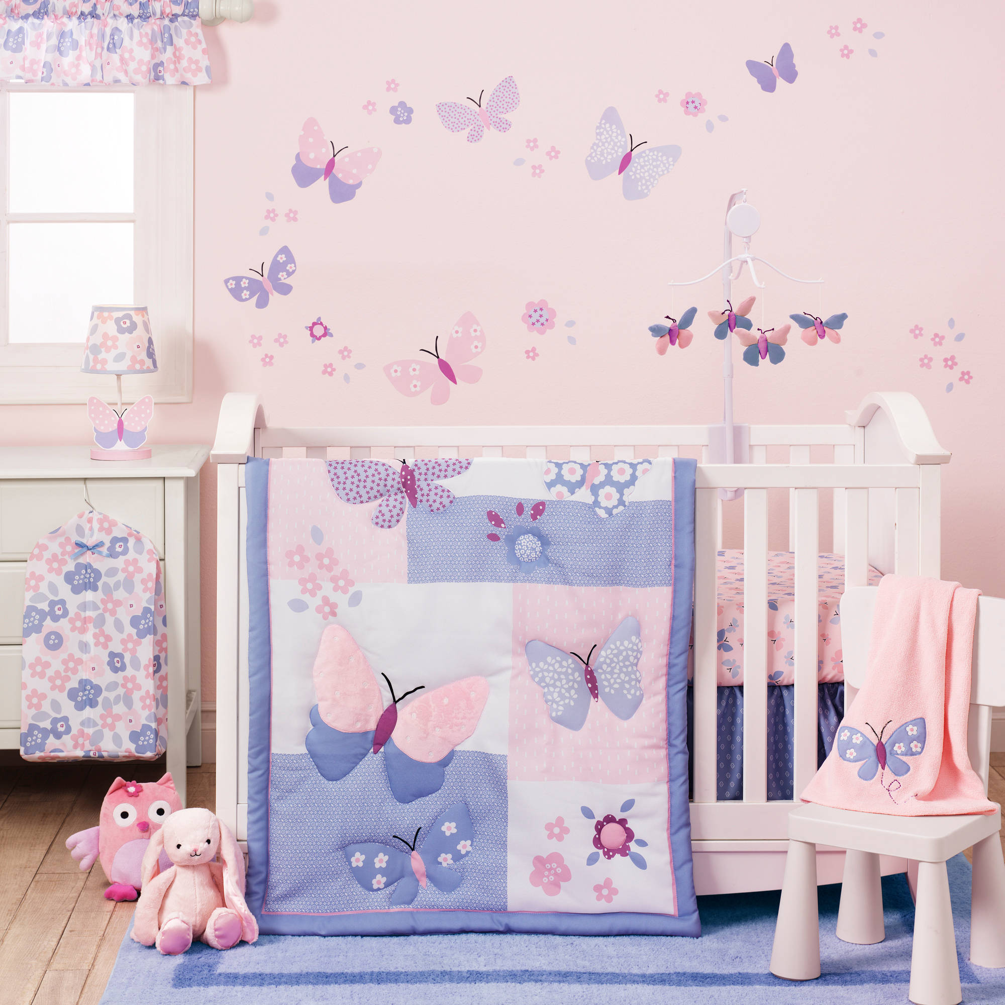 Bedtime Originals Butterfly Meadow Collection 3-Piece Crib Bedding Set