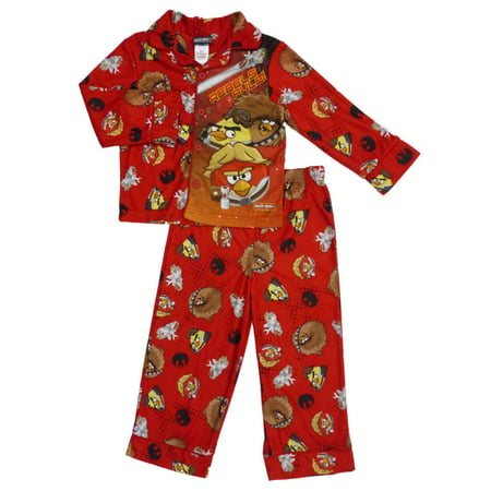 Angry Birds Boys Star Wars Flannel Sleepwear Pajama Set 4