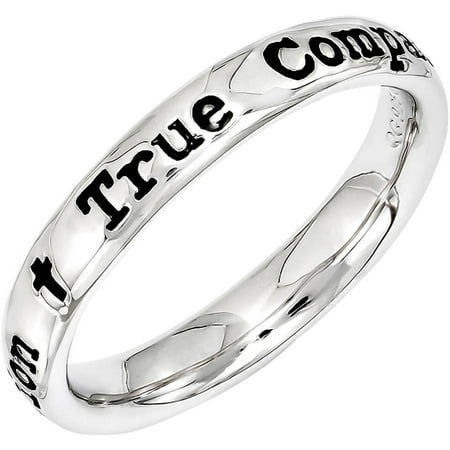 Stackable Expressions Sterling Silver Lyric  True Companion  Ring