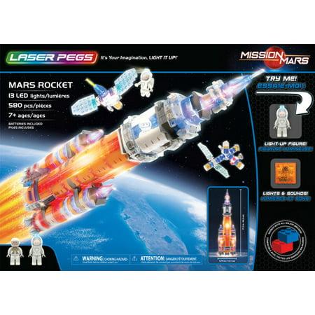 Laser Pegs Mars Rocket