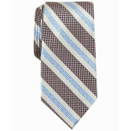 Men's Blue Nairn Striped Pattern Neck Tie Soft Silk Not Applicable Diamond Patterned Silk Tie