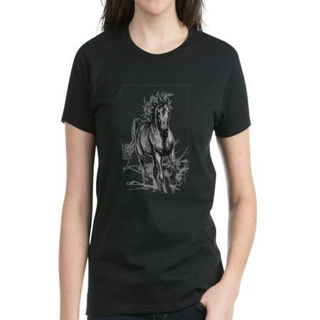 CafePress - Coming Through Horse Women's Light Teeshirt T-Shir - Women's Dark T-Shirt