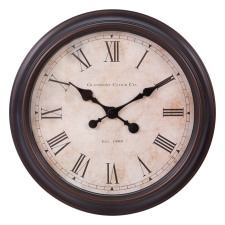 Patton Wall Decor 18 Inch Antique Bronze Wall Clock