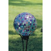 Carson Home Accents 65685 10 inch Gazing Ball - Mosaic Aqua Iridescence