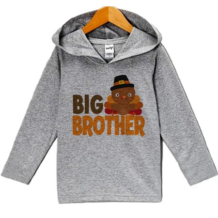 Custom Party Shop Baby Boy's Big Brother Thanksgiving Hoodie - 24 Months (5 Custom Sweatshirt)