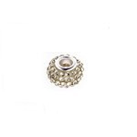 Buckets of Beads Swarovski Crystal Charm Bead, Clear
