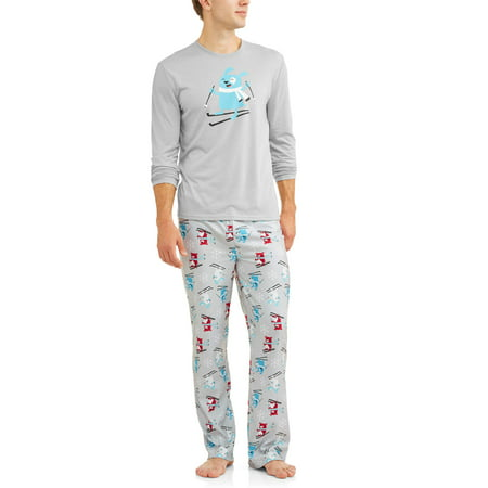 Family PJs Family Sleep Holiday Ski Dogs 2 Piece Pajama Sleep Set (Men's)