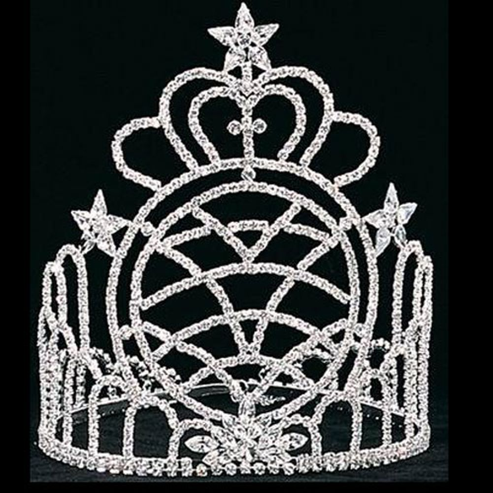 Futuron Girls Silver 8in Heart Pageant Quinceanera Commun...