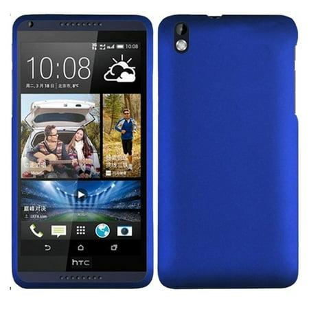 Hard Rubberized Case for HTC Desire 816 - Blue