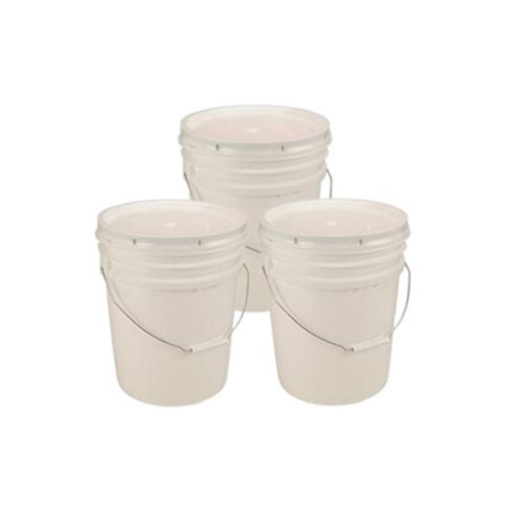 API-Kirk API Kirk 5 Gallon White Bucket u0026 Lid - Set of 3 - Durable 90 Mil All Purpose Pail - Food Grade - Contains No BPA Plastic - Walmart.com  sc 1 st  Walmart & API-Kirk API Kirk 5 Gallon White Bucket u0026 Lid - Set of 3 - Durable ...